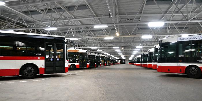 Rekonstrukce osvětlení parkovací haly garáží Řepy – IM-Stav